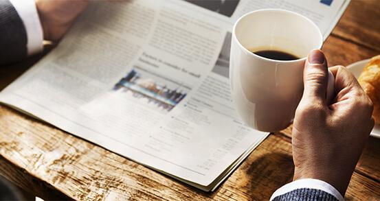 An Entrepreneur Reading the News