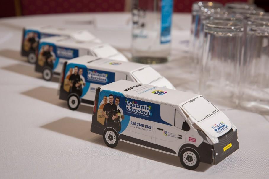 fantastic services promo miniature van
