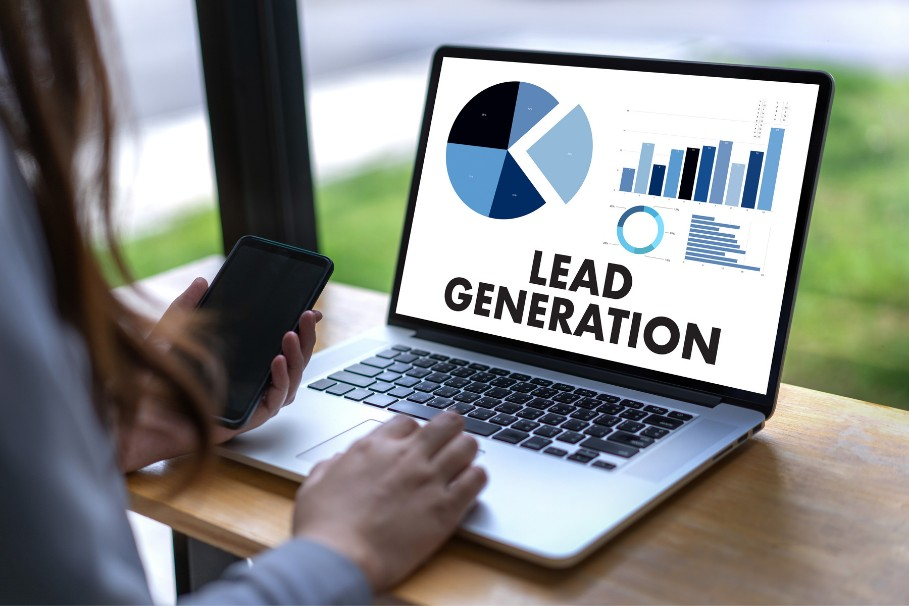 Lead generation charts and graphs
